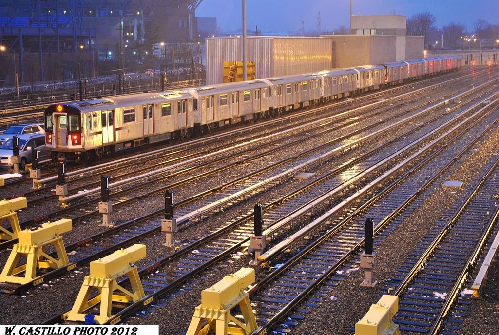 (463k, 1024x687)<br><b>Country:</b> United States<br><b>City:</b> New York<br><b>System:</b> New York City Transit<br><b>Location:</b> Corona Yard<br><b>Car:</b> R-188 (R-142A Conversion, Kawasaki, 1999-2002) 7211 <br><b>Photo by:</b> Wilfredo Castillo<br><b>Date:</b> 1/23/2012<br><b>Viewed (this week/total):</b> 3 / 1125