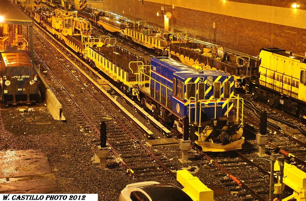 (518k, 1024x673)<br><b>Country:</b> United States<br><b>City:</b> New York<br><b>System:</b> New York City Transit<br><b>Location:</b> Corona Yard<br><b>Car:</b> R-41 Locomotive  57 <br><b>Photo by:</b> Wilfredo Castillo<br><b>Date:</b> 1/23/2012<br><b>Viewed (this week/total):</b> 1 / 562
