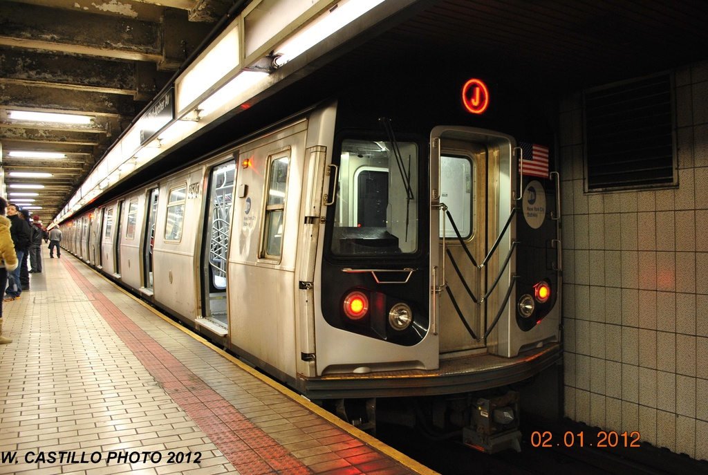 (323k, 1024x687)<br><b>Country:</b> United States<br><b>City:</b> New York<br><b>System:</b> New York City Transit<br><b>Line:</b> BMT Nassau Street/Jamaica Line<br><b>Location:</b> Sutphin Blvd.-Archer Ave./JFK <br><b>Route:</b> J<br><b>Car:</b> R-160A-1 (Alstom, 2005-2008, 4 car sets)  8548 <br><b>Photo by:</b> Wilfredo Castillo<br><b>Date:</b> 1/2/2012<br><b>Viewed (this week/total):</b> 2 / 1079