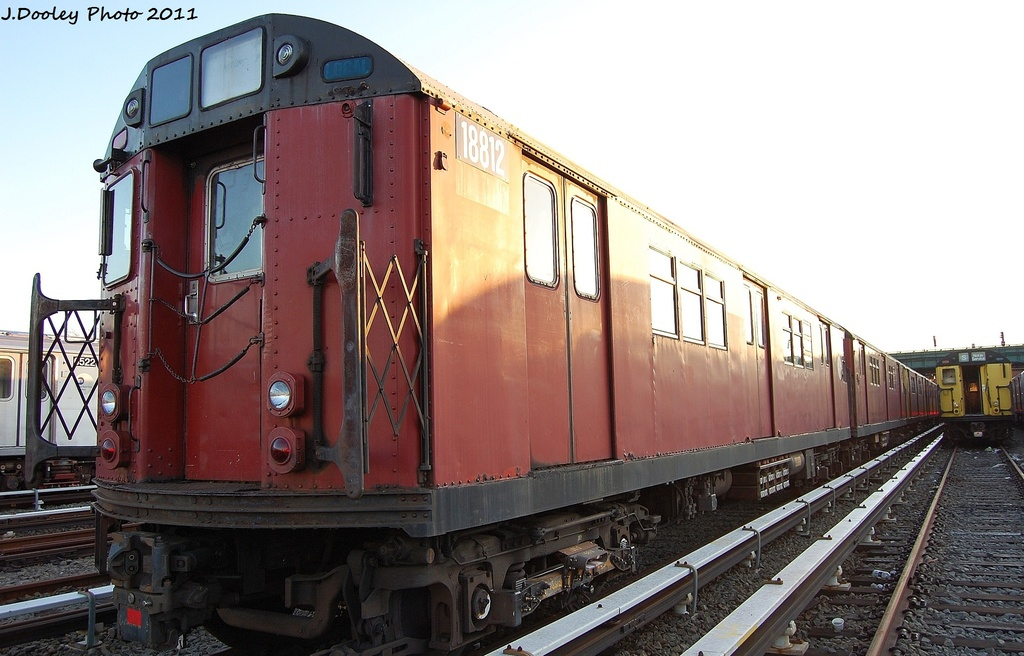 (285k, 1024x656)<br><b>Country:</b> United States<br><b>City:</b> New York<br><b>System:</b> New York City Transit<br><b>Location:</b> 239th Street Yard<br><b>Car:</b> R-33 Main Line (St. Louis, 1962-63) 8812 <br><b>Photo by:</b> John Dooley<br><b>Date:</b> 12/8/2011<br><b>Viewed (this week/total):</b> 1 / 770