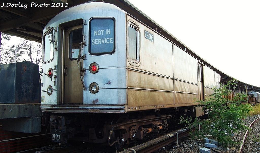 (317k, 1024x603)<br><b>Country:</b> United States<br><b>City:</b> New York<br><b>System:</b> New York City Transit<br><b>Location:</b> 36th Street Yard<br><b>Car:</b> R-127/R-134 (Kawasaki, 1991-1996) EP008 <br><b>Photo by:</b> John Dooley<br><b>Date:</b> 9/13/2011<br><b>Viewed (this week/total):</b> 9 / 832