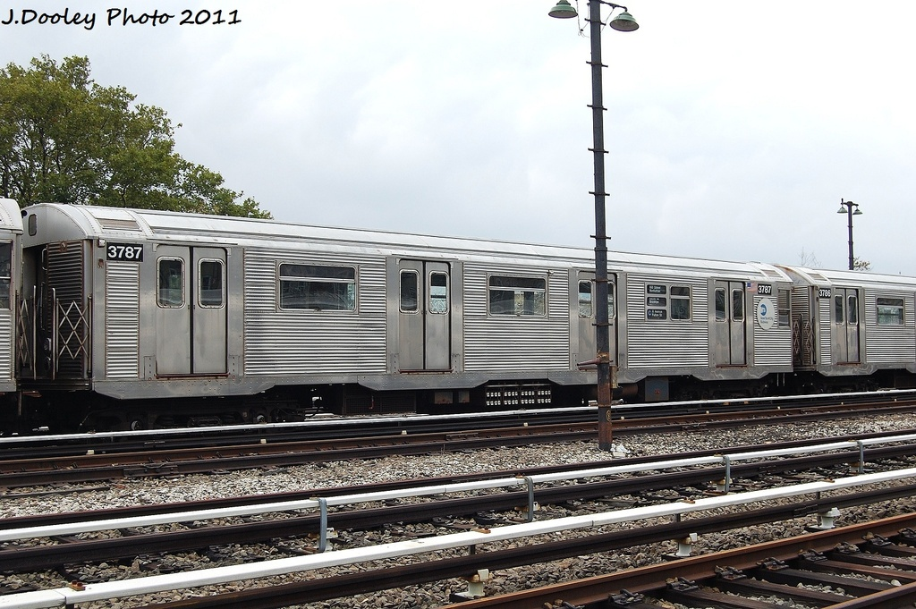 (355k, 1024x681)<br><b>Country:</b> United States<br><b>City:</b> New York<br><b>System:</b> New York City Transit<br><b>Location:</b> Fresh Pond Yard<br><b>Car:</b> R-32 (Budd, 1964)  3787 <br><b>Photo by:</b> John Dooley<br><b>Date:</b> 9/20/2011<br><b>Viewed (this week/total):</b> 0 / 772