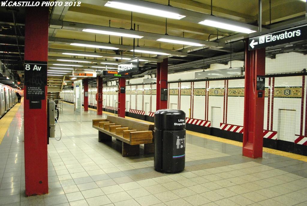 (323k, 1024x687)<br><b>Country:</b> United States<br><b>City:</b> New York<br><b>System:</b> New York City Transit<br><b>Line:</b> BMT Canarsie Line<br><b>Location:</b> 8th Avenue <br><b>Photo by:</b> Wilfredo Castillo<br><b>Date:</b> 2/28/2012<br><b>Viewed (this week/total):</b> 4 / 966