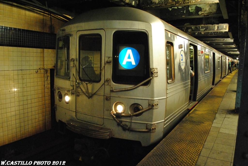 (296k, 1024x687)<br><b>Country:</b> United States<br><b>City:</b> New York<br><b>System:</b> New York City Transit<br><b>Line:</b> IND Queens Boulevard Line<br><b>Location:</b> 7th Avenue/53rd Street <br><b>Route:</b> A reroute<br><b>Car:</b> R-46 (Pullman-Standard, 1974-75) 6038 <br><b>Photo by:</b> Wilfredo Castillo<br><b>Date:</b> 3/12/2012<br><b>Viewed (this week/total):</b> 0 / 1074