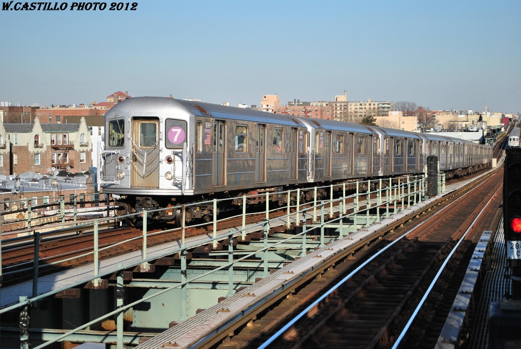(325k, 1024x687)<br><b>Country:</b> United States<br><b>City:</b> New York<br><b>System:</b> New York City Transit<br><b>Line:</b> IRT Flushing Line<br><b>Location:</b> 61st Street/Woodside <br><b>Route:</b> 7<br><b>Car:</b> R-62A (Bombardier, 1984-1987)  1696 <br><b>Photo by:</b> Wilfredo Castillo<br><b>Date:</b> 3/6/2012<br><b>Viewed (this week/total):</b> 0 / 921