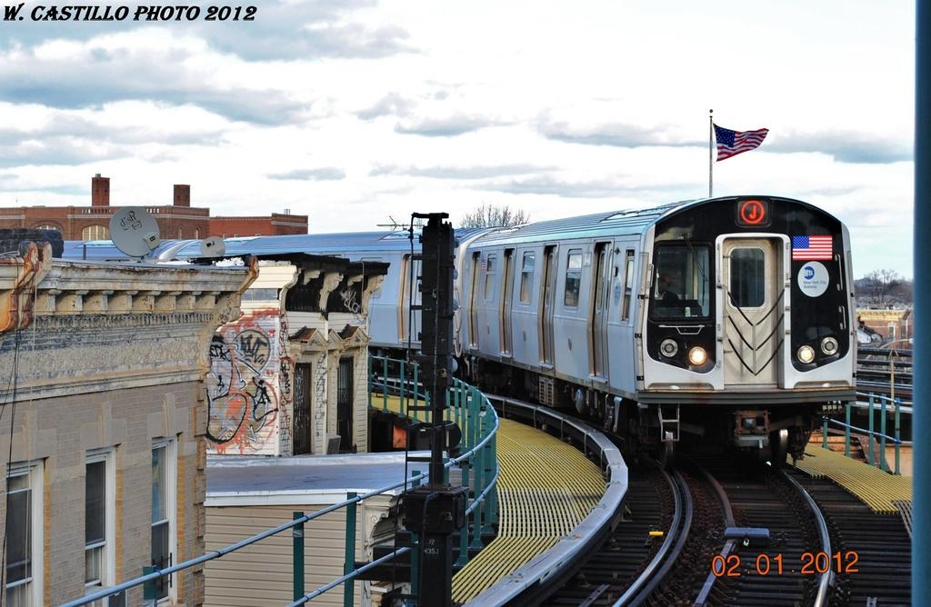 (295k, 1024x668)<br><b>Country:</b> United States<br><b>City:</b> New York<br><b>System:</b> New York City Transit<br><b>Line:</b> BMT Nassau Street/Jamaica Line<br><b>Location:</b> Crescent Street <br><b>Route:</b> J<br><b>Car:</b> R-160A-1 (Alstom, 2005-2008, 4 car sets)  8448 <br><b>Photo by:</b> Wilfredo Castillo<br><b>Date:</b> 1/2/2012<br><b>Viewed (this week/total):</b> 0 / 1047