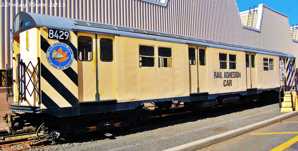 (337k, 1024x521)<br><b>Country:</b> United States<br><b>City:</b> New York<br><b>System:</b> New York City Transit<br><b>Location:</b> Coney Island Yard<br><b>Car:</b> Rail Adhesion Train (R-30/R-33 Rebuilds) 8429 <br><b>Photo by:</b> John Dooley<br><b>Date:</b> 10/9/2011<br><b>Notes:</b> Rail adhesion car.<br><b>Viewed (this week/total):</b> 0 / 1418