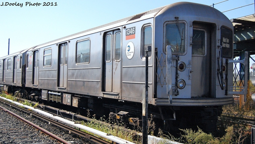 (337k, 1024x578)<br><b>Country:</b> United States<br><b>City:</b> New York<br><b>System:</b> New York City Transit<br><b>Location:</b> Coney Island Yard<br><b>Car:</b> R-62 (Kawasaki, 1983-1985)  1346 <br><b>Photo by:</b> John Dooley<br><b>Date:</b> 10/9/2011<br><b>Viewed (this week/total):</b> 5 / 777