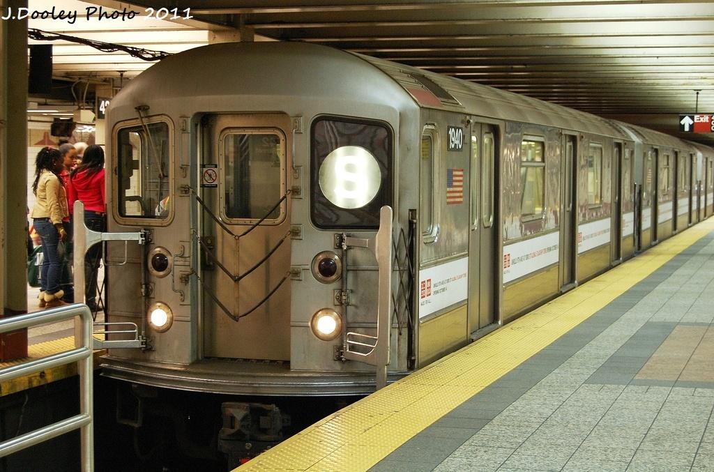 (361k, 1024x677)<br><b>Country:</b> United States<br><b>City:</b> New York<br><b>System:</b> New York City Transit<br><b>Line:</b> IRT Times Square-Grand Central Shuttle<br><b>Location:</b> Grand Central <br><b>Route:</b> S<br><b>Car:</b> R-62A (Bombardier, 1984-1987)  1940 <br><b>Photo by:</b> John Dooley<br><b>Date:</b> 10/23/2011<br><b>Viewed (this week/total):</b> 1 / 603