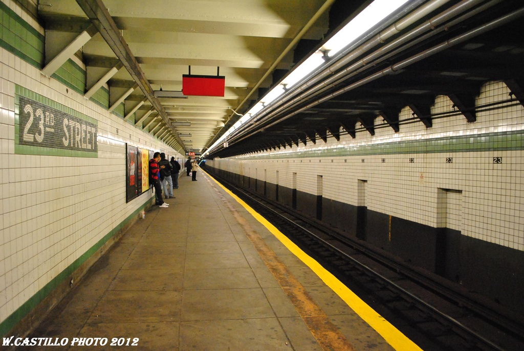 (306k, 1024x687)<br><b>Country:</b> United States<br><b>City:</b> New York<br><b>System:</b> New York City Transit<br><b>Line:</b> IND 6th Avenue Line<br><b>Location:</b> 23rd Street <br><b>Photo by:</b> Wilfredo Castillo<br><b>Date:</b> 3/15/2012<br><b>Viewed (this week/total):</b> 0 / 851