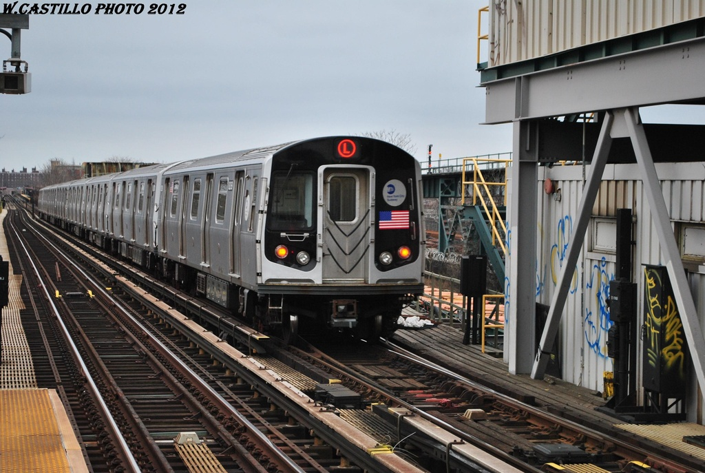 (316k, 1024x687)<br><b>Country:</b> United States<br><b>City:</b> New York<br><b>System:</b> New York City Transit<br><b>Line:</b> BMT Canarsie Line<br><b>Location:</b> Livonia Avenue <br><b>Route:</b> L<br><b>Car:</b> R-143 (Kawasaki, 2001-2002) 8269 <br><b>Photo by:</b> Wilfredo Castillo<br><b>Date:</b> 3/15/2012<br><b>Viewed (this week/total):</b> 0 / 755
