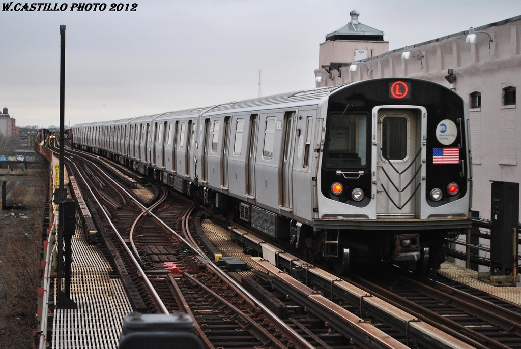 (301k, 1024x687)<br><b>Country:</b> United States<br><b>City:</b> New York<br><b>System:</b> New York City Transit<br><b>Line:</b> BMT Canarsie Line<br><b>Location:</b> Livonia Avenue <br><b>Route:</b> L<br><b>Car:</b> R-143 (Kawasaki, 2001-2002) 8296 <br><b>Photo by:</b> Wilfredo Castillo<br><b>Date:</b> 3/15/2012<br><b>Viewed (this week/total):</b> 12 / 765