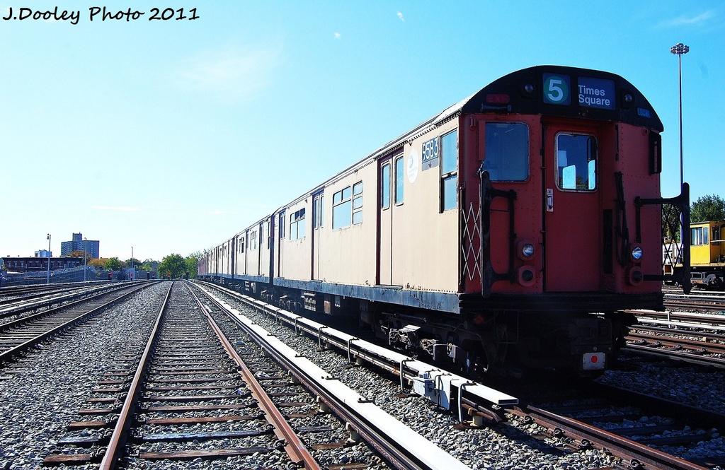 (355k, 1024x665)<br><b>Country:</b> United States<br><b>City:</b> New York<br><b>System:</b> New York City Transit<br><b>Location:</b> Unionport Yard<br><b>Car:</b> R-36 World's Fair (St. Louis, 1963-64) 9583 <br><b>Photo by:</b> John Dooley<br><b>Date:</b> 10/28/2011<br><b>Viewed (this week/total):</b> 1 / 1044