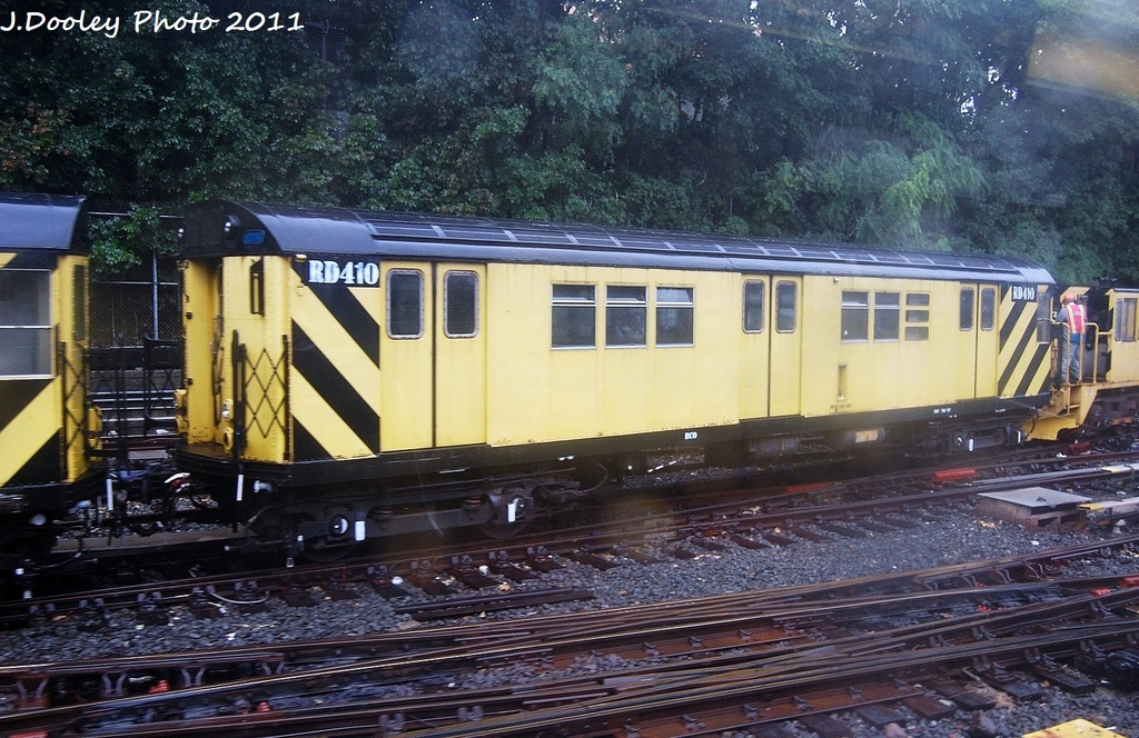 (384k, 1024x664)<br><b>Country:</b> United States<br><b>City:</b> New York<br><b>System:</b> New York City Transit<br><b>Line:</b> BMT West End Line<br><b>Location:</b> 9th Avenue <br><b>Route:</b> Work Service<br><b>Car:</b> R-161 Rider Car (ex-R-33)  RD410 <br><b>Photo by:</b> John Dooley<br><b>Date:</b> 9/6/2011<br><b>Viewed (this week/total):</b> 0 / 819
