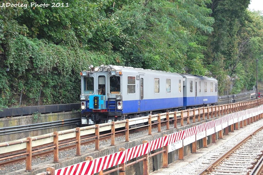 (510k, 1024x681)<br><b>Country:</b> United States<br><b>City:</b> New York<br><b>System:</b> New York City Transit<br><b>Line:</b> BMT West End Line<br><b>Location:</b> 9th Avenue <br><b>Route:</b> Work Service<br><b>Car:</b> Track Geometry Car TGC4 <br><b>Photo by:</b> John Dooley<br><b>Date:</b> 9/22/2011<br><b>Viewed (this week/total):</b> 0 / 1464