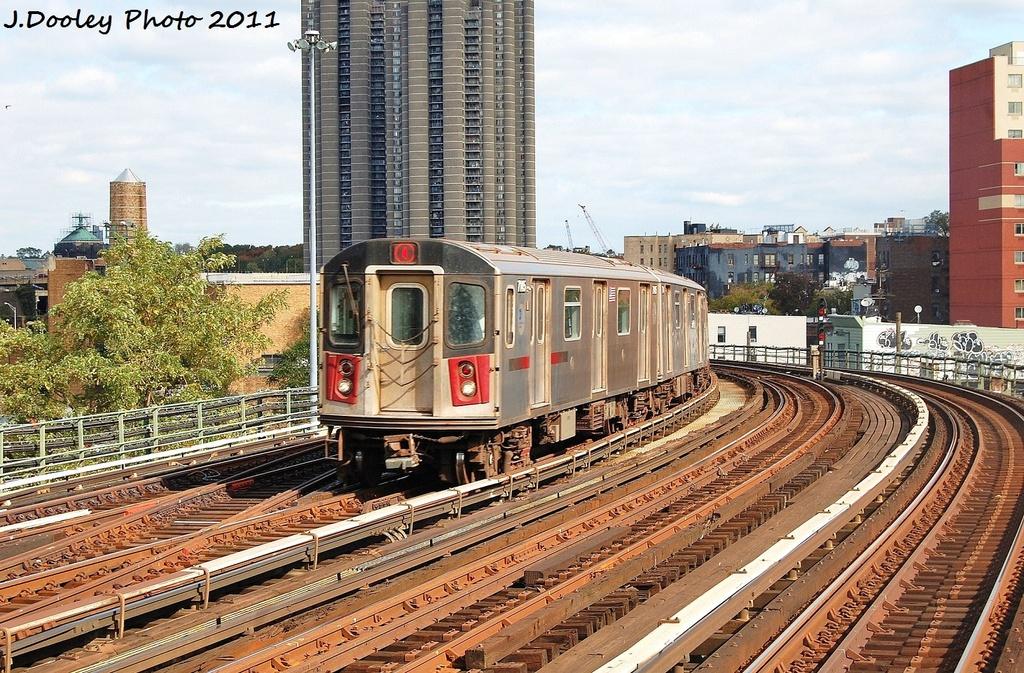 (443k, 1024x673)<br><b>Country:</b> United States<br><b>City:</b> New York<br><b>System:</b> New York City Transit<br><b>Line:</b> IRT Woodlawn Line<br><b>Location:</b> Bedford Park Boulevard <br><b>Route:</b> 4<br><b>Car:</b> R-142 (Option Order, Bombardier, 2002-2003)  7145 <br><b>Photo by:</b> John Dooley<br><b>Date:</b> 10/23/2011<br><b>Viewed (this week/total):</b> 1 / 898