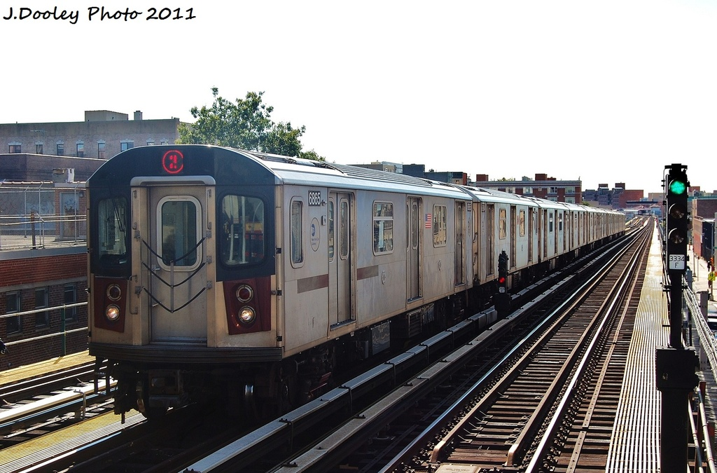 (307k, 1024x675)<br><b>Country:</b> United States<br><b>City:</b> New York<br><b>System:</b> New York City Transit<br><b>Line:</b> IRT White Plains Road Line<br><b>Location:</b> 174th Street <br><b>Route:</b> 2<br><b>Car:</b> R-142 (Primary Order, Bombardier, 1999-2002)  6865 <br><b>Photo by:</b> John Dooley<br><b>Date:</b> 10/28/2011<br><b>Viewed (this week/total):</b> 0 / 1076