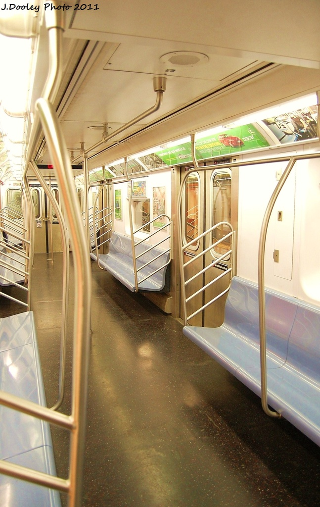 (292k, 647x1024)<br><b>Country:</b> United States<br><b>City:</b> New York<br><b>System:</b> New York City Transit<br><b>Car:</b> R-142 or R-142A (Number Unknown) Interior <br><b>Photo by:</b> John Dooley<br><b>Date:</b> 10/28/2011<br><b>Viewed (this week/total):</b> 0 / 780