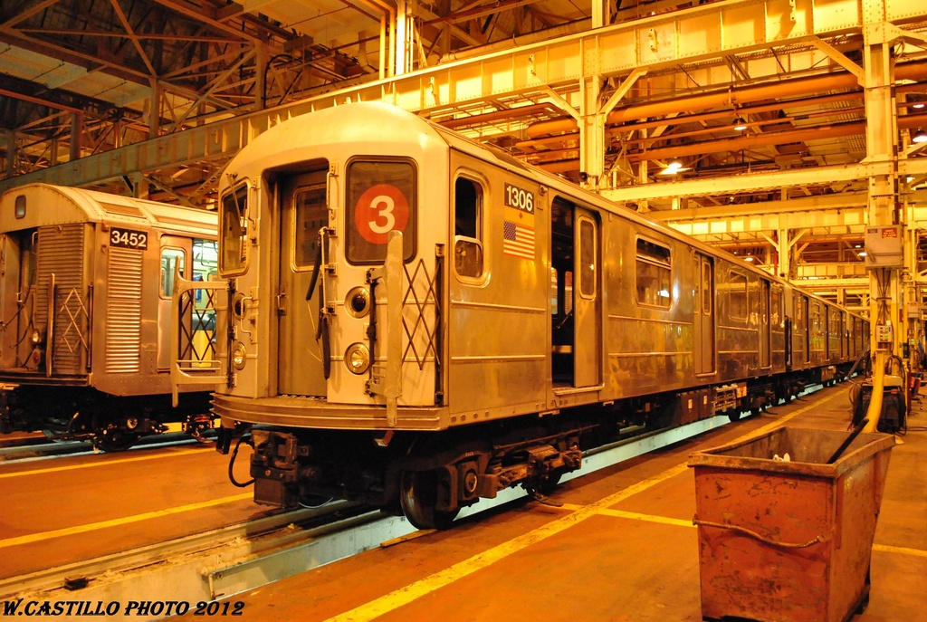 (368k, 1024x687)<br><b>Country:</b> United States<br><b>City:</b> New York<br><b>System:</b> New York City Transit<br><b>Location:</b> Coney Island Shop/Overhaul & Repair Shop<br><b>Car:</b> R-62 (Kawasaki, 1983-1985)  1306 <br><b>Photo by:</b> Wilfredo Castillo<br><b>Date:</b> 2/26/2012<br><b>Viewed (this week/total):</b> 0 / 584