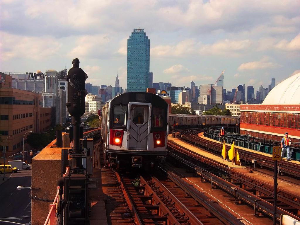 (342k, 1024x768)<br><b>Country:</b> United States<br><b>City:</b> New York<br><b>System:</b> New York City Transit<br><b>Line:</b> IRT Flushing Line<br><b>Location:</b> 33rd Street/Rawson Street <br><b>Route:</b> 7 testing<br><b>Car:</b> R-142A (Primary Order, Kawasaki, 1999-2002)  7240 <br><b>Photo by:</b> Christopher Henderson<br><b>Date:</b> 9/30/2011<br><b>Viewed (this week/total):</b> 2 / 1335