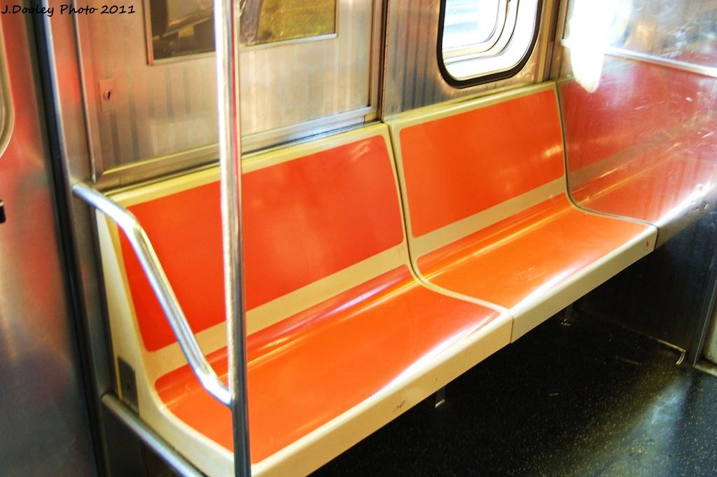 (269k, 1024x681)<br><b>Country:</b> United States<br><b>City:</b> New York<br><b>System:</b> New York City Transit<br><b>Car:</b> R-62 (Kawasaki, 1983-1985)  Interior <br><b>Photo by:</b> John Dooley<br><b>Date:</b> 6/28/2011<br><b>Viewed (this week/total):</b> 1 / 809