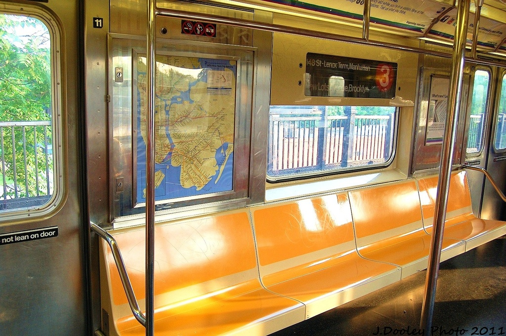 (414k, 1024x681)<br><b>Country:</b> United States<br><b>City:</b> New York<br><b>System:</b> New York City Transit<br><b>Car:</b> R-62 (Kawasaki, 1983-1985)  Interior <br><b>Photo by:</b> John Dooley<br><b>Date:</b> 6/28/2011<br><b>Viewed (this week/total):</b> 0 / 1323