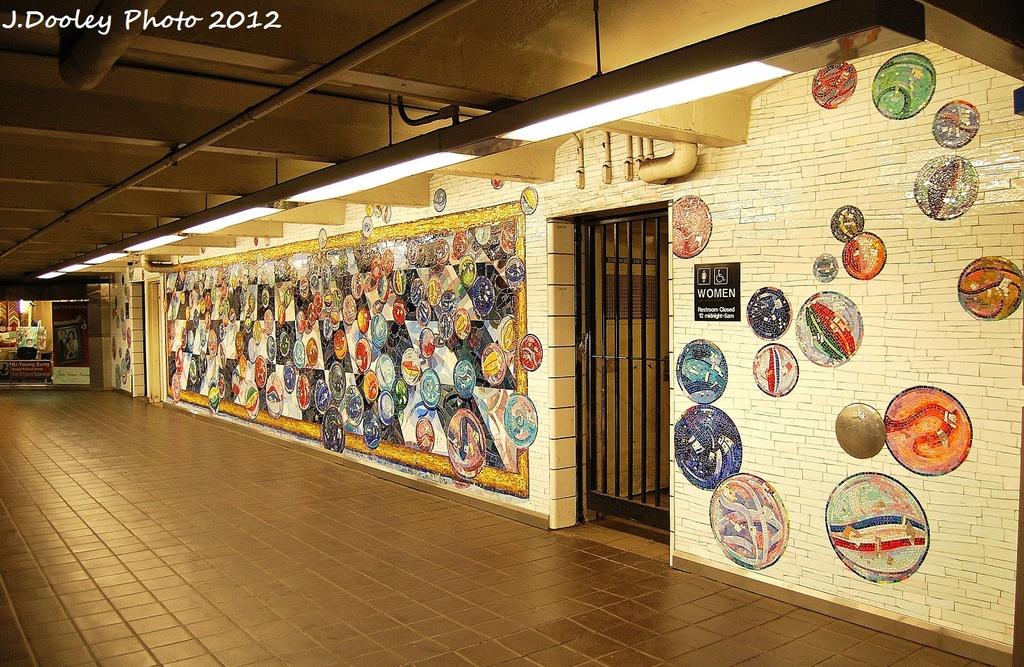 (439k, 1024x667)<br><b>Country:</b> United States<br><b>City:</b> New York<br><b>System:</b> New York City Transit<br><b>Line:</b> IND 8th Avenue Line<br><b>Location:</b> 42nd Street/Port Authority Bus Terminal <br><b>Photo by:</b> John Dooley<br><b>Date:</b> 1/23/2012<br><b>Artwork:</b> <i>Losing My Marbles</i>, Lisa Dinhofer (2003).<br><b>Viewed (this week/total):</b> 2 / 164