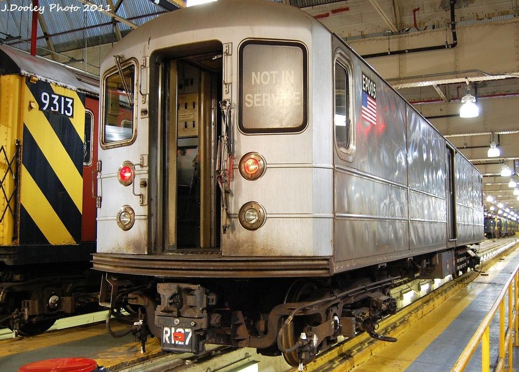 (418k, 1024x735)<br><b>Country:</b> United States<br><b>City:</b> New York<br><b>System:</b> New York City Transit<br><b>Location:</b> 239th Street Shop<br><b>Car:</b> R-127/R-134 (Kawasaki, 1991-1996) EP005 <br><b>Photo by:</b> John Dooley<br><b>Date:</b> 12/8/2011<br><b>Viewed (this week/total):</b> 0 / 834