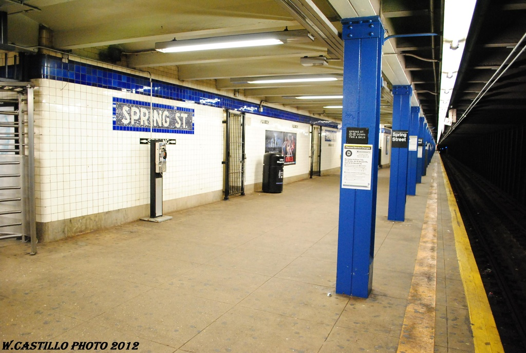 (287k, 1024x687)<br><b>Country:</b> United States<br><b>City:</b> New York<br><b>System:</b> New York City Transit<br><b>Line:</b> IND 8th Avenue Line<br><b>Location:</b> Spring Street <br><b>Photo by:</b> Wilfredo Castillo<br><b>Date:</b> 3/27/2012<br><b>Viewed (this week/total):</b> 0 / 1523