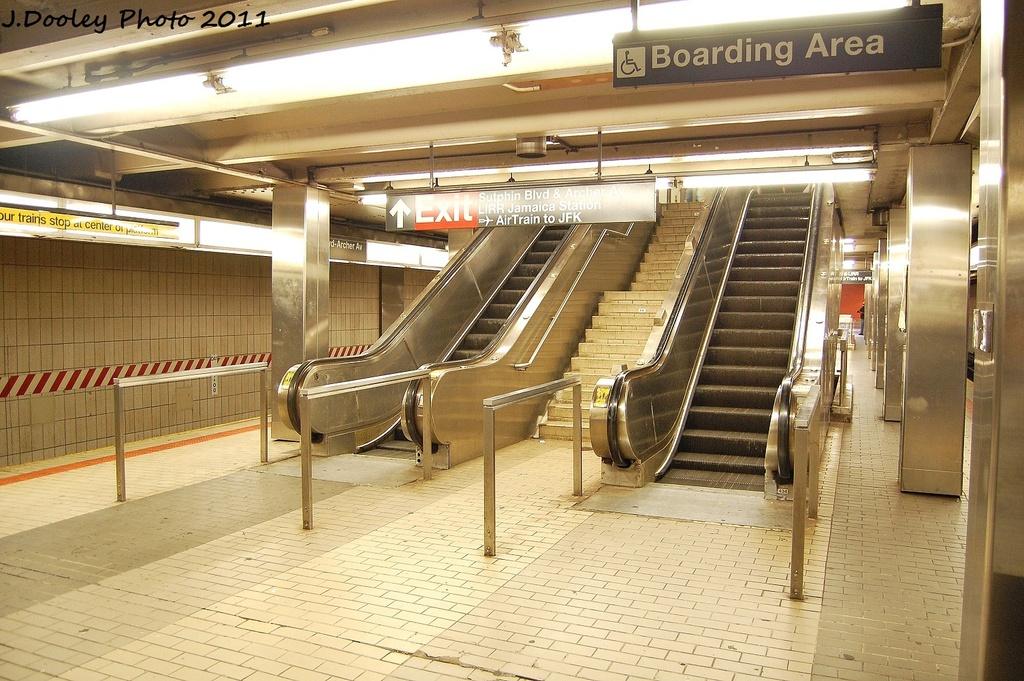 (375k, 1024x681)<br><b>Country:</b> United States<br><b>City:</b> New York<br><b>System:</b> New York City Transit<br><b>Line:</b> BMT Nassau Street/Jamaica Line<br><b>Location:</b> Sutphin Blvd.-Archer Ave./JFK <br><b>Photo by:</b> John Dooley<br><b>Date:</b> 9/6/2011<br><b>Viewed (this week/total):</b> 4 / 1138