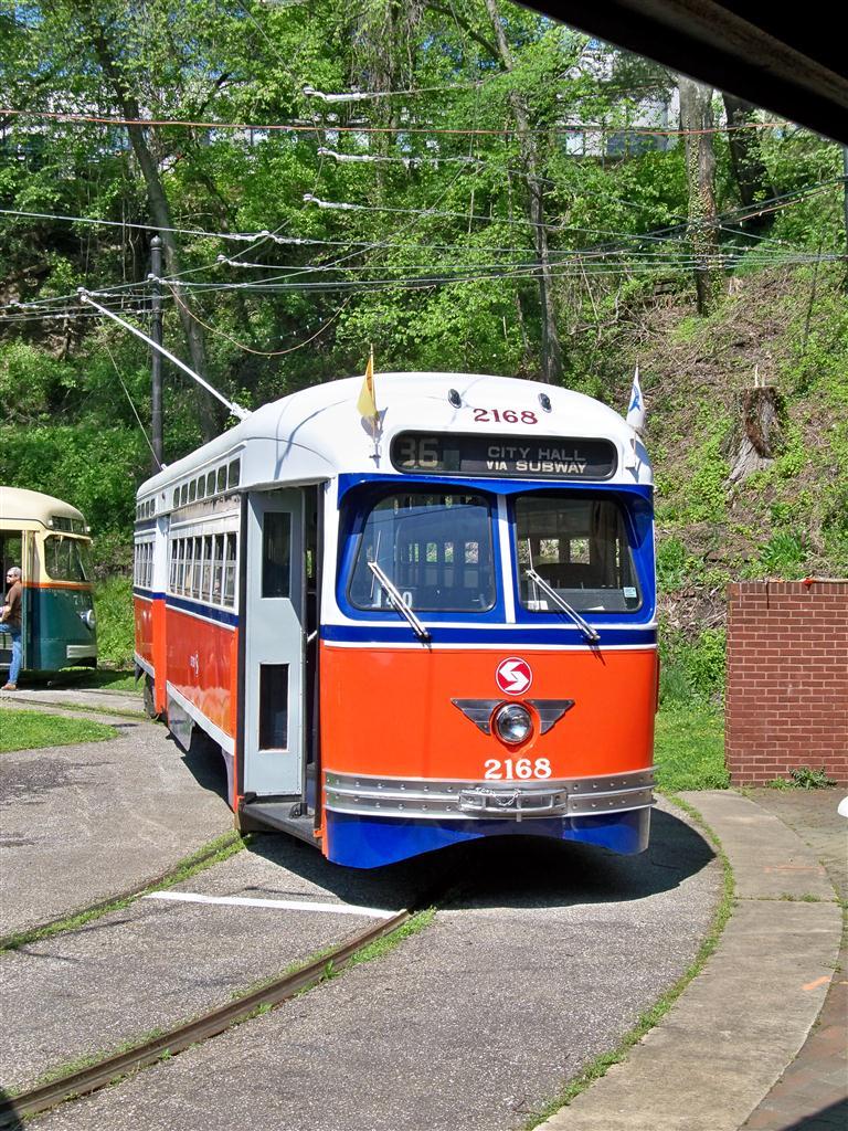 (247k, 768x1024)<br><b>Country:</b> United States<br><b>City:</b> Baltimore, MD<br><b>System:</b> Baltimore Streetcar Museum <br><b>Car:</b> PTC/SEPTA Postwar All-electric PCC (St.Louis, 1948)  2168 <br><b>Photo by:</b> Fran Rogers<br><b>Date:</b> 4/11/2010<br><b>Viewed (this week/total):</b> 3 / 645