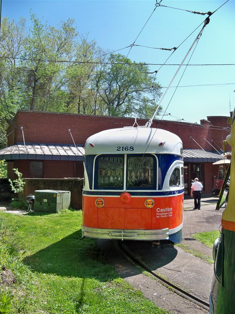 (195k, 768x1024)<br><b>Country:</b> United States<br><b>City:</b> Baltimore, MD<br><b>System:</b> Baltimore Streetcar Museum <br><b>Car:</b> PTC/SEPTA Postwar All-electric PCC (St.Louis, 1948)  2168 <br><b>Photo by:</b> Fran Rogers<br><b>Date:</b> 4/11/2010<br><b>Viewed (this week/total):</b> 1 / 467