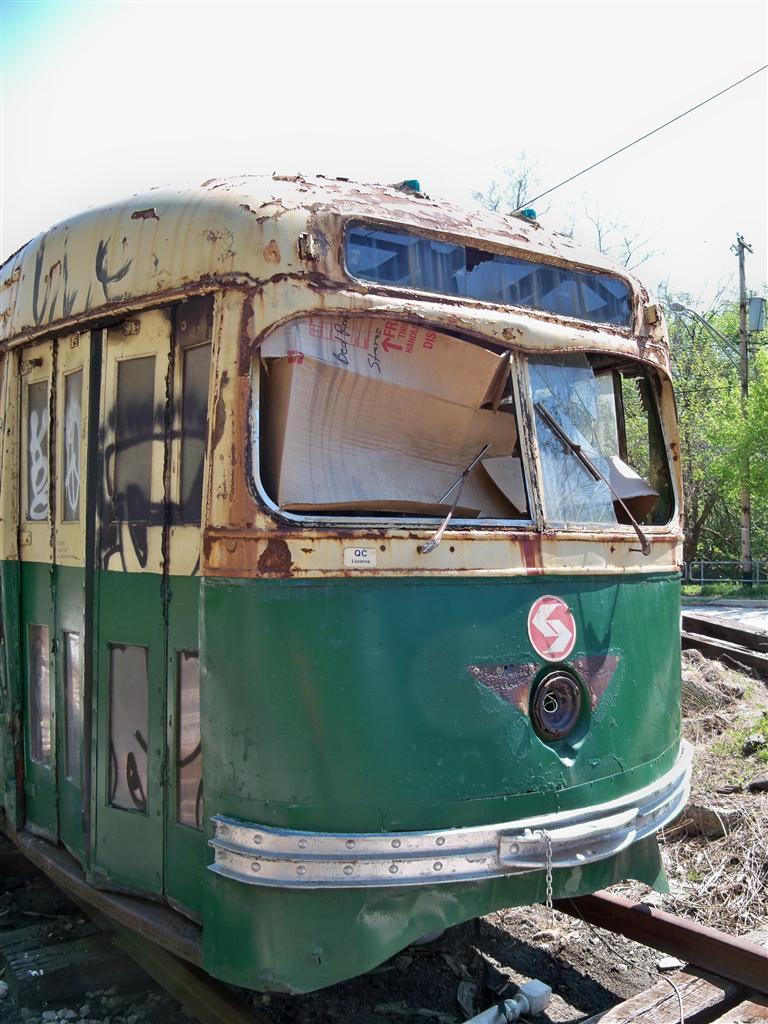(146k, 768x1024)<br><b>Country:</b> United States<br><b>City:</b> Baltimore, MD<br><b>System:</b> Baltimore Streetcar Museum <br><b>Car:</b> PTC/SEPTA Wartime Air-car PCC (St.Louis, 1942)  2647 <br><b>Photo by:</b> Fran Rogers<br><b>Date:</b> 4/11/2010<br><b>Viewed (this week/total):</b> 2 / 627