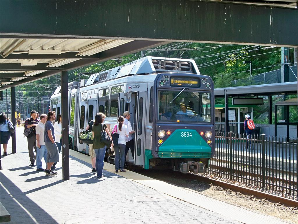 (184k, 1024x768)<br><b>Country:</b> United States<br><b>City:</b> Boston, MA<br><b>System:</b> MBTA<br><b>Line:</b> MBTA Green (D)<br><b>Location:</b> Riverside<br><b>Car:</b> MBTA Type 8 LRV (Breda, 1998-2006) 3894 <br><b>Photo by:</b> Fran Rogers<br><b>Date:</b> 5/23/2010<br><b>Viewed (this week/total):</b> 0 / 711
