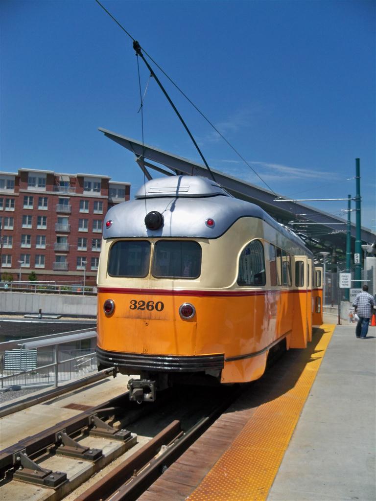 (110k, 768x1024)<br><b>Country:</b> United States<br><b>City:</b> Boston, MA<br><b>System:</b> MBTA<br><b>Line:</b> MBTA Mattapan-Ashmont Line<br><b>Location:</b> Ashmont <br><b>Car:</b> MBTA/BSRy PCC Wartime (Pullman-Standard, 1945-46)  3260 <br><b>Photo by:</b> Fran Rogers<br><b>Date:</b> 5/23/2010<br><b>Viewed (this week/total):</b> 1 / 746