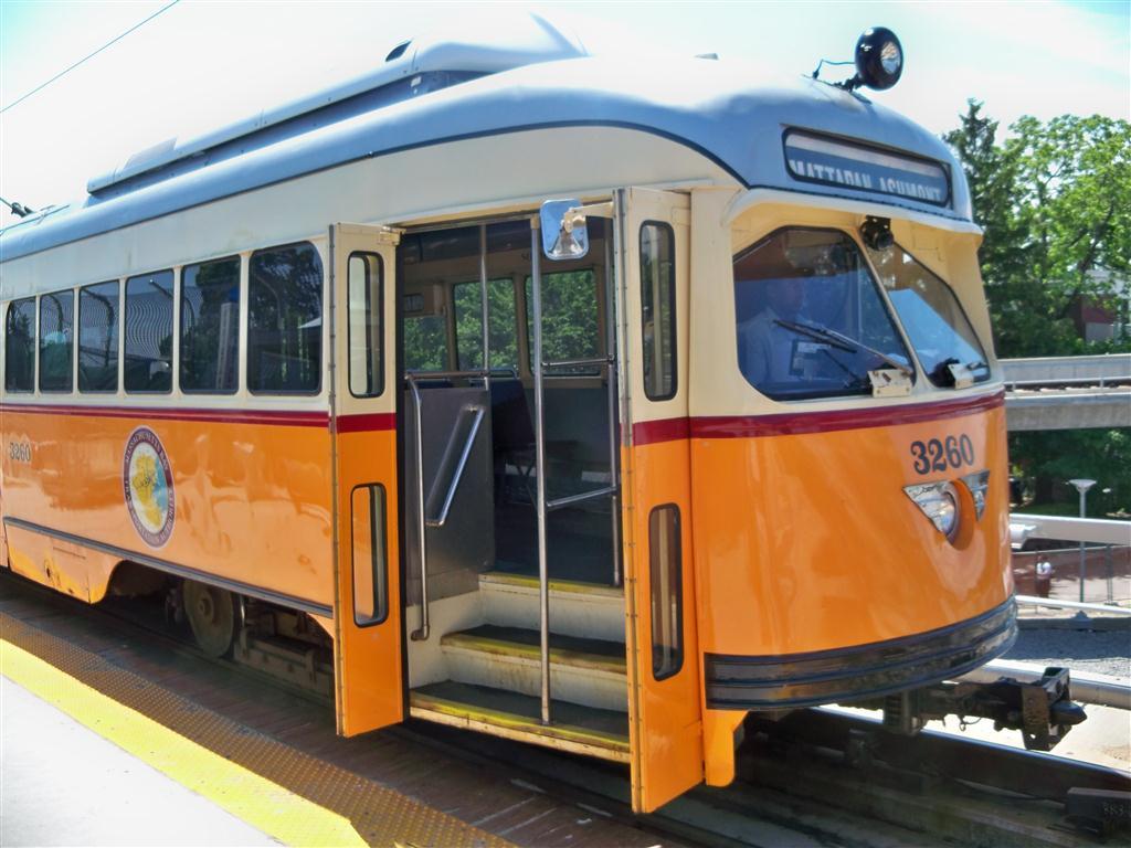 (123k, 1024x768)<br><b>Country:</b> United States<br><b>City:</b> Boston, MA<br><b>System:</b> MBTA<br><b>Line:</b> MBTA Mattapan-Ashmont Line<br><b>Location:</b> Ashmont <br><b>Car:</b> MBTA/BSRy PCC Wartime (Pullman-Standard, 1945-46)  3260 <br><b>Photo by:</b> Fran Rogers<br><b>Date:</b> 5/23/2010<br><b>Viewed (this week/total):</b> 0 / 723