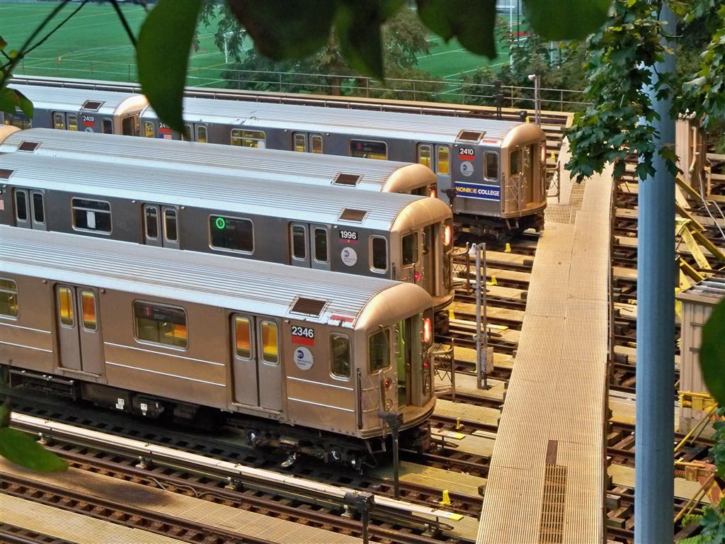 (186k, 1024x768)<br><b>Country:</b> United States<br><b>City:</b> New York<br><b>System:</b> New York City Transit<br><b>Location:</b> 240th Street Yard<br><b>Car:</b> R-62A (Bombardier, 1984-1987)  2346/1996/2410 <br><b>Photo by:</b> Fran Rogers<br><b>Date:</b> 9/16/2010<br><b>Viewed (this week/total):</b> 2 / 1688