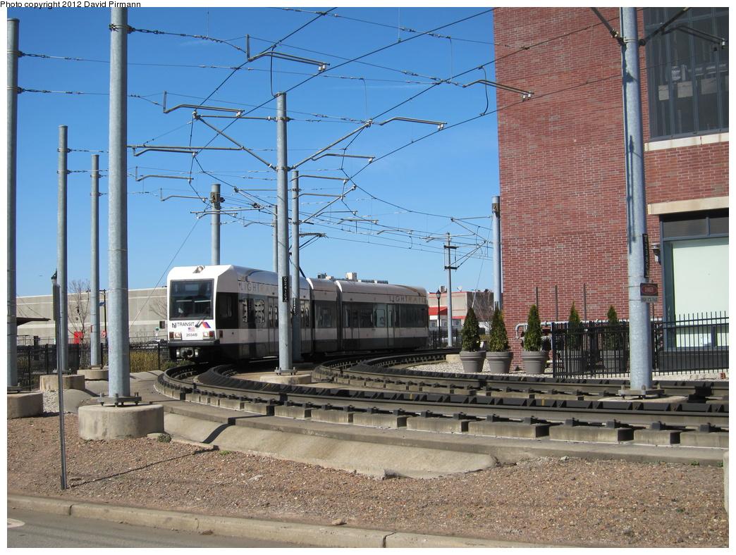 (396k, 1044x788)<br><b>Country:</b> United States<br><b>City:</b> Jersey City, NJ<br><b>System:</b> Hudson Bergen Light Rail<br><b>Location:</b> Between Washington St. and Harsimus Cove <br><b>Car:</b> NJT-HBLR LRV (Kinki-Sharyo, 1998-99)  2034 <br><b>Photo by:</b> David Pirmann<br><b>Date:</b> 3/11/2012<br><b>Viewed (this week/total):</b> 2 / 463