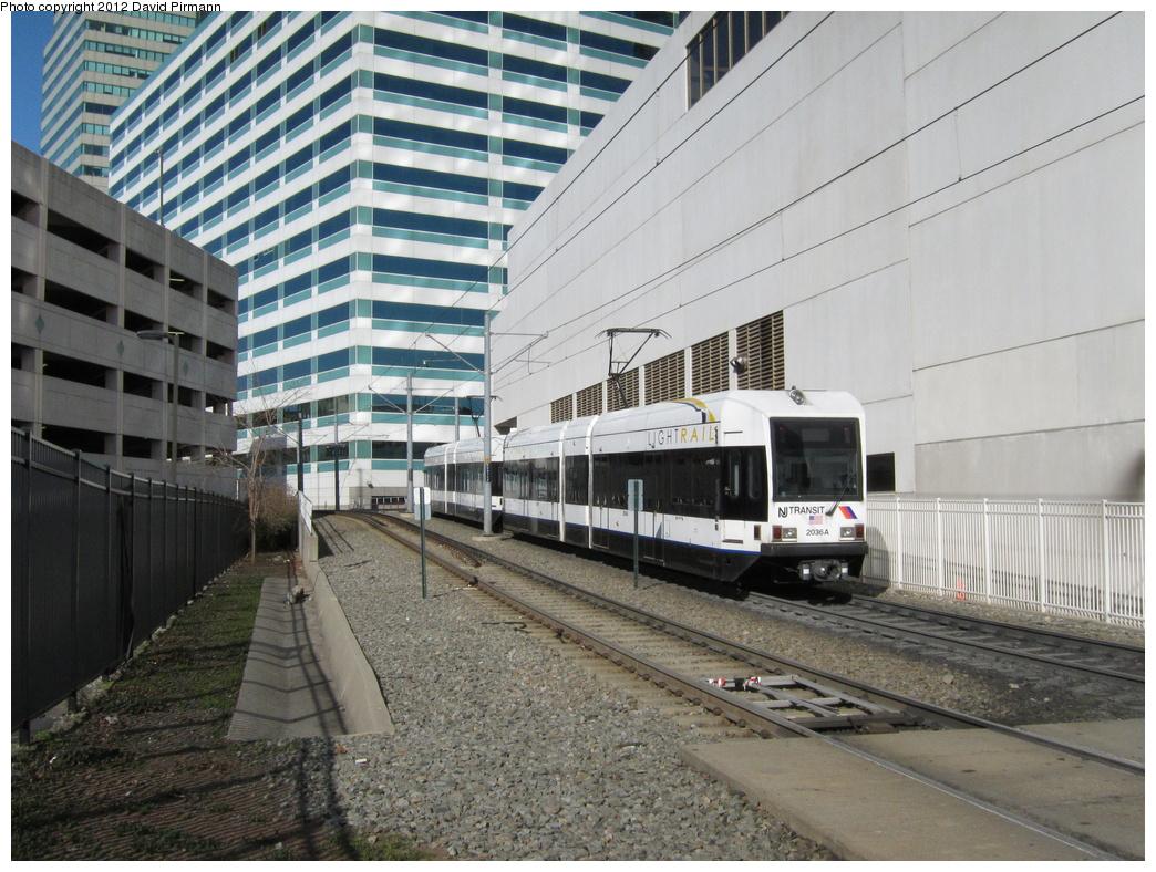 (370k, 1044x788)<br><b>Country:</b> United States<br><b>City:</b> Jersey City, NJ<br><b>System:</b> Hudson Bergen Light Rail<br><b>Location:</b> 6th St. Grade Crossing <br><b>Car:</b> NJT-HBLR LRV (Kinki-Sharyo, 1998-99)  2036 <br><b>Photo by:</b> David Pirmann<br><b>Date:</b> 3/14/2012<br><b>Viewed (this week/total):</b> 0 / 475