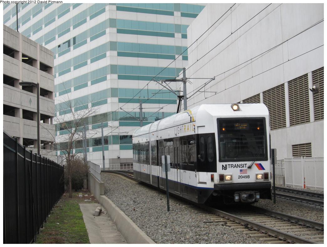 (333k, 1044x788)<br><b>Country:</b> United States<br><b>City:</b> Jersey City, NJ<br><b>System:</b> Hudson Bergen Light Rail<br><b>Location:</b> 6th St. Grade Crossing <br><b>Car:</b> NJT-HBLR LRV (Kinki-Sharyo, 1998-99)  2049 <br><b>Photo by:</b> David Pirmann<br><b>Date:</b> 3/18/2012<br><b>Viewed (this week/total):</b> 0 / 321