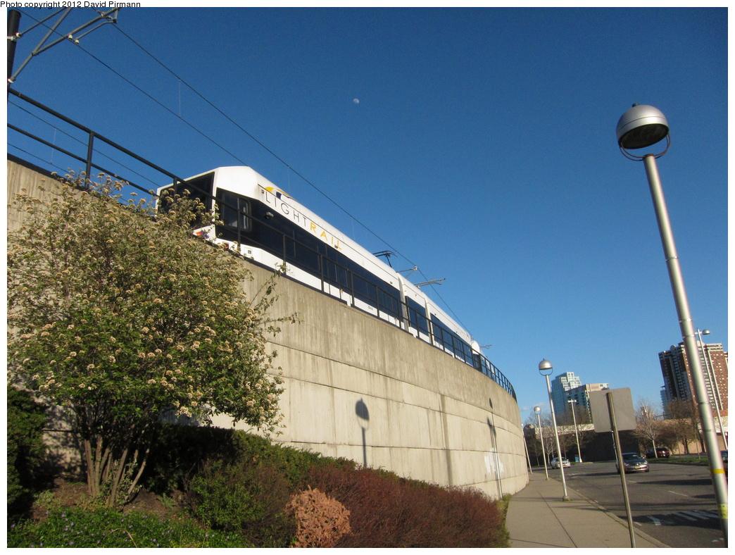 (371k, 1044x788)<br><b>Country:</b> United States<br><b>City:</b> Hoboken, NJ<br><b>System:</b> Hudson Bergen Light Rail<br><b>Location:</b> Between Hoboken Wye and Paterson Ave. <br><b>Car:</b> NJT-HBLR LRV (Kinki-Sharyo, 1998-99)  2044 <br><b>Photo by:</b> David Pirmann<br><b>Date:</b> 4/2/2012<br><b>Viewed (this week/total):</b> 1 / 411