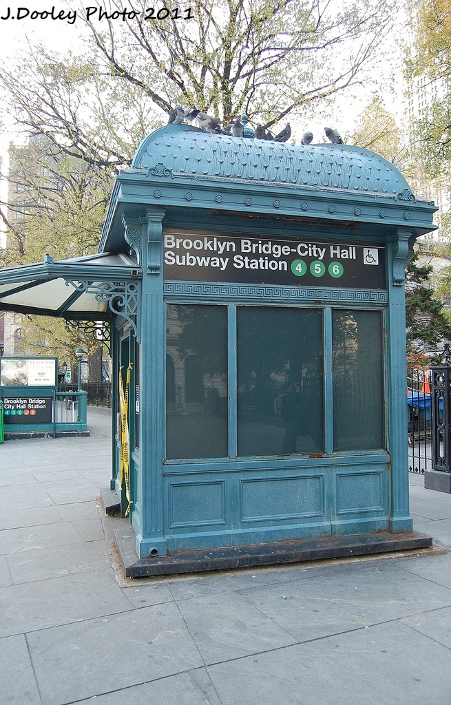 (418k, 655x1024)<br><b>Country:</b> United States<br><b>City:</b> New York<br><b>System:</b> New York City Transit<br><b>Line:</b> IRT East Side Line<br><b>Location:</b> Brooklyn Bridge/City Hall <br><b>Photo by:</b> John Dooley<br><b>Date:</b> 12/4/2011<br><b>Notes:</b> Elevator entrance.<br><b>Viewed (this week/total):</b> 2 / 1348