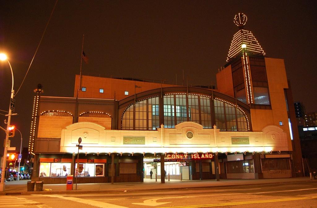 (313k, 1024x673)<br><b>Country:</b> United States<br><b>City:</b> New York<br><b>System:</b> New York City Transit<br><b>Location:</b> Coney Island/Stillwell Avenue<br><b>Photo by:</b> John Dooley<br><b>Date:</b> 1/20/2012<br><b>Notes:</b> Night time view.<br><b>Viewed (this week/total):</b> 0 / 994