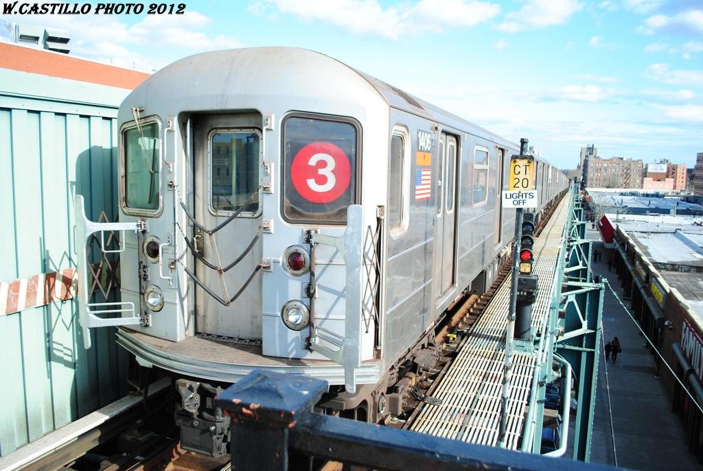 (318k, 1024x687)<br><b>Country:</b> United States<br><b>City:</b> New York<br><b>System:</b> New York City Transit<br><b>Line:</b> IRT Brooklyn Line<br><b>Location:</b> Saratoga Avenue <br><b>Route:</b> 3<br><b>Car:</b> R-62 (Kawasaki, 1983-1985)  1406 <br><b>Photo by:</b> Wilfredo Castillo<br><b>Date:</b> 3/29/2012<br><b>Viewed (this week/total):</b> 0 / 1035