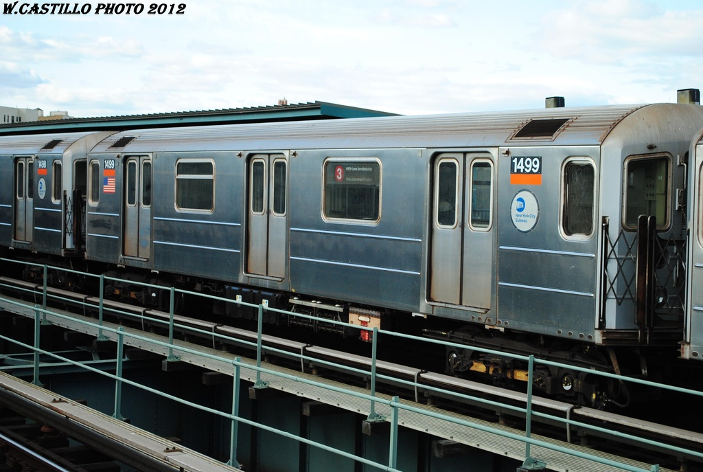 (279k, 1024x687)<br><b>Country:</b> United States<br><b>City:</b> New York<br><b>System:</b> New York City Transit<br><b>Line:</b> IRT Brooklyn Line<br><b>Location:</b> Sutter Avenue/Rutland Road <br><b>Route:</b> 3<br><b>Car:</b> R-62 (Kawasaki, 1983-1985)  1499 <br><b>Photo by:</b> Wilfredo Castillo<br><b>Date:</b> 3/29/2012<br><b>Viewed (this week/total):</b> 3 / 846