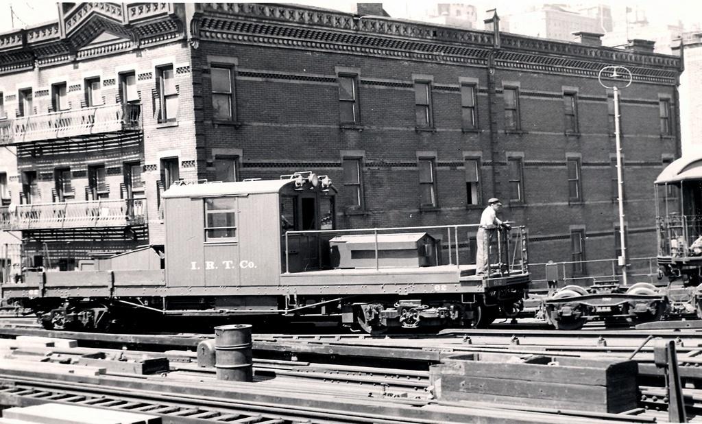 (292k, 1024x618)<br><b>Country:</b> United States<br><b>City:</b> New York<br><b>System:</b> New York City Transit<br><b>Line:</b> 3rd Avenue El<br><b>Location:</b> 99th St. Yard <br><b>Car:</b> IRT Drill Motor (Pressed Steel, 1906)  62 <br><b>Photo by:</b> Ed Watson/Arthur Lonto Collection<br><b>Collection of:</b> Frank Pfuhler<br><b>Viewed (this week/total):</b> 8 / 1407
