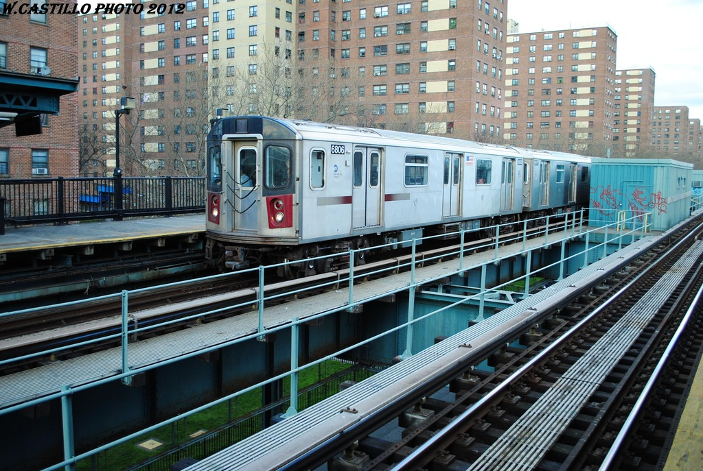 (394k, 1024x687)<br><b>Country:</b> United States<br><b>City:</b> New York<br><b>System:</b> New York City Transit<br><b>Line:</b> IRT Brooklyn Line<br><b>Location:</b> Rockaway Avenue <br><b>Route:</b> 2<br><b>Car:</b> R-142 (Primary Order, Bombardier, 1999-2002)  6806 <br><b>Photo by:</b> Wilfredo Castillo<br><b>Date:</b> 3/29/2012<br><b>Viewed (this week/total):</b> 5 / 1511