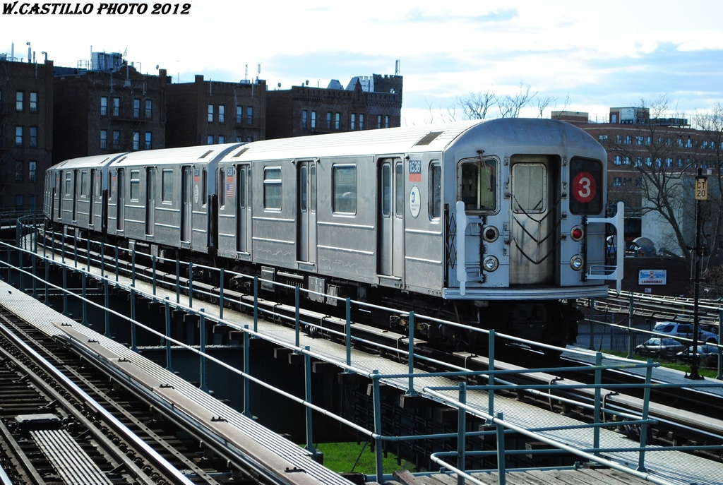 (351k, 1024x687)<br><b>Country:</b> United States<br><b>City:</b> New York<br><b>System:</b> New York City Transit<br><b>Line:</b> IRT Brooklyn Line<br><b>Location:</b> Sutter Avenue/Rutland Road <br><b>Route:</b> 3<br><b>Car:</b> R-62 (Kawasaki, 1983-1985)  1536 <br><b>Photo by:</b> Wilfredo Castillo<br><b>Date:</b> 3/29/2012<br><b>Viewed (this week/total):</b> 3 / 1013