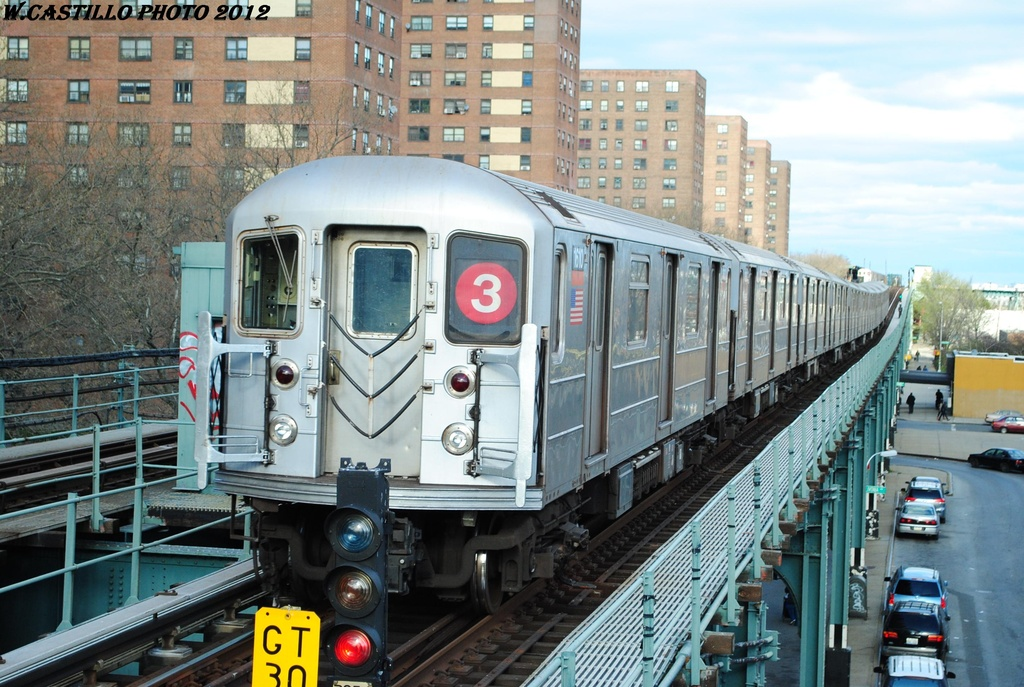 (346k, 1024x687)<br><b>Country:</b> United States<br><b>City:</b> New York<br><b>System:</b> New York City Transit<br><b>Line:</b> IRT Brooklyn Line<br><b>Location:</b> Rockaway Avenue <br><b>Route:</b> 3<br><b>Car:</b> R-62 (Kawasaki, 1983-1985)  1610 <br><b>Photo by:</b> Wilfredo Castillo<br><b>Date:</b> 3/29/2012<br><b>Viewed (this week/total):</b> 2 / 901