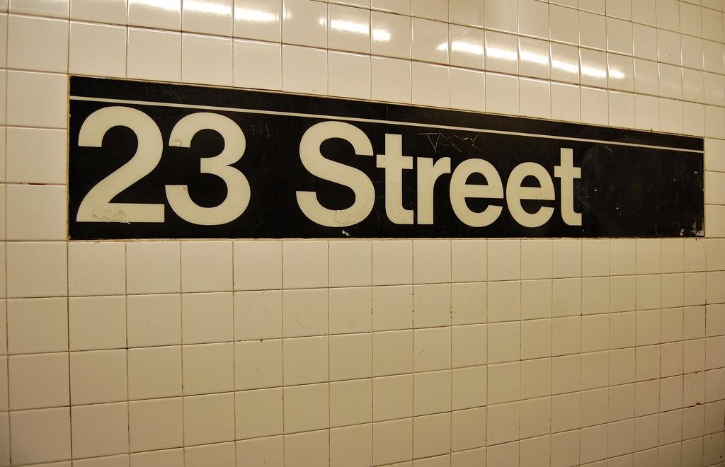 (224k, 1024x660)<br><b>Country:</b> United States<br><b>City:</b> New York<br><b>System:</b> New York City Transit<br><b>Line:</b> IRT West Side Line<br><b>Location:</b> 23rd Street <br><b>Photo by:</b> John Dooley<br><b>Date:</b> 2/26/2012<br><b>Viewed (this week/total):</b> 0 / 879